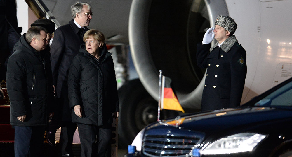 Angela Merkel em Moscou