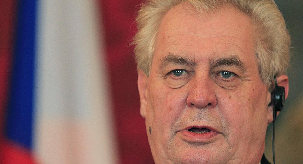 Presidente tcheco Milos Zeman