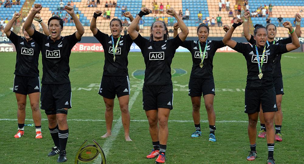 Jogadoras da seleção da Nova Zelândia de rugby sevens