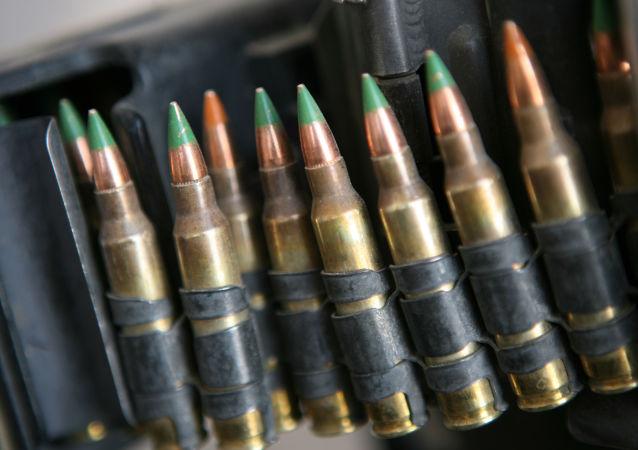 Cartuchos de 5,56 mm para metralhadora M-249