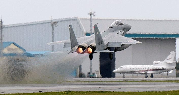 Caça F-15 japonês (foto de arquivo)