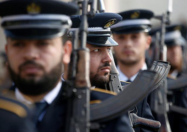 Membros das forças de segurança do Hamas