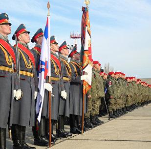 Batalhão da Polícia Militar regressou da Síria a Makhachkala, república de Daguestão
