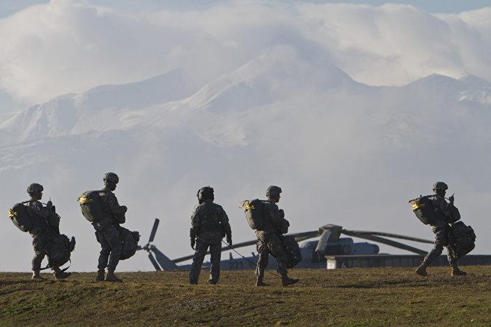 Militares dos EUA durante treinamentos (foto de arquivo)