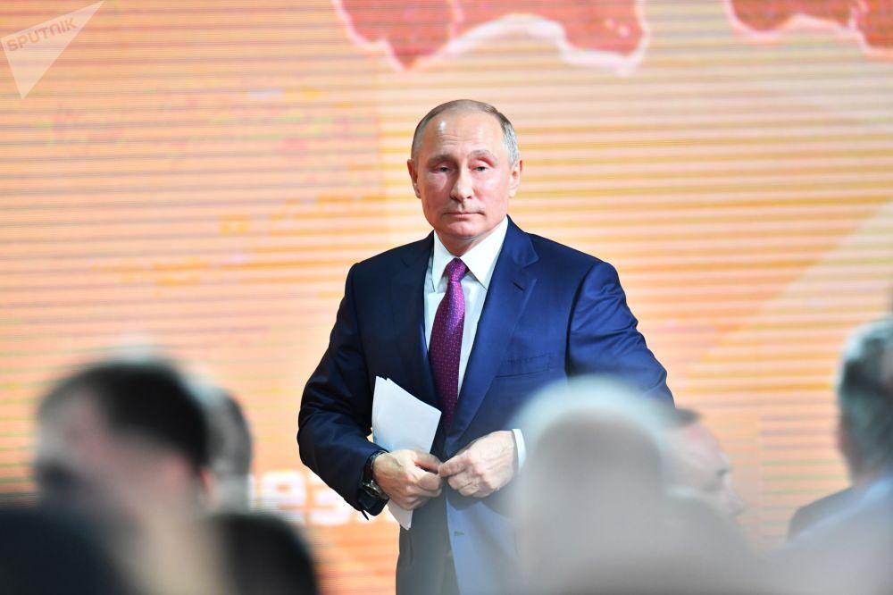 Coletiva de imprensa anual do líder russo Vladimir Putin