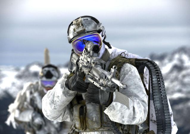Солдат подразделения Сил специальных операций ВМС США Морские котики