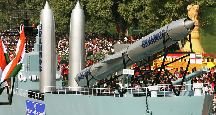 Brahmos Missiles replicas are displayed during India's 60th Republic Day parade in New Delhi