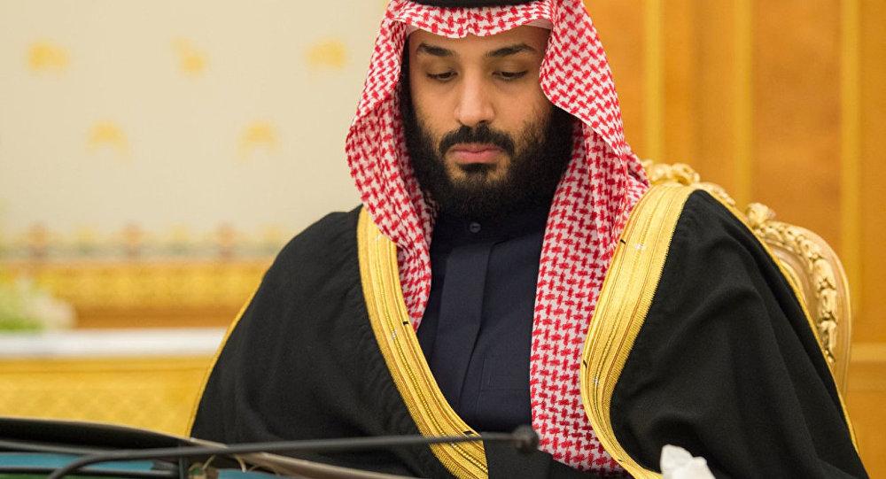 O príncipe herdeiro saudita Mohammed bin Salman participa de uma reunião do gabinete em Riade.