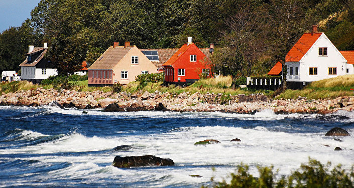 Ilha de Bornholm, foto de arquivo