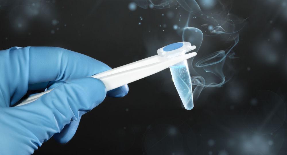 Líquido congelado, imagem referencial
