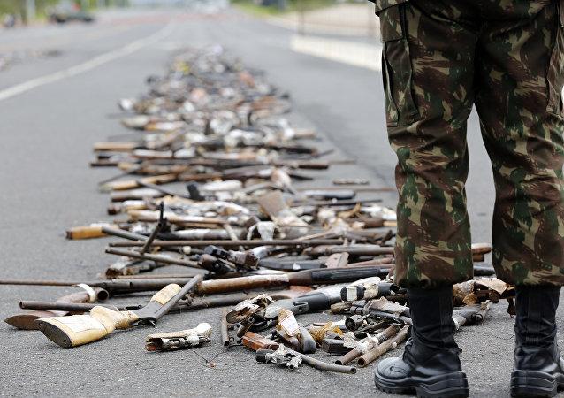 Operação Vulcão, realizada pelo Exército, destruiu 100 mil armas em todo o país (imagem de arquivo)