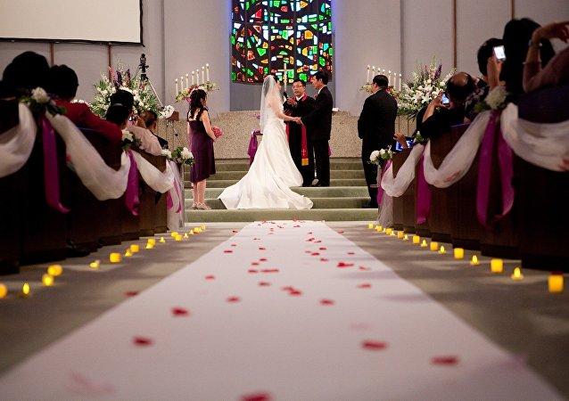 Cerimônia de casamento (imagem referencial)