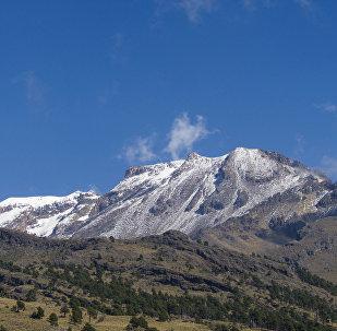 Vulcão  Iztaccíhuatl, México, foto de arquivo