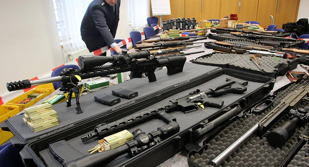 Apreensão de armas encontradas com membros do grupo extremista alemão Reichsbuerger