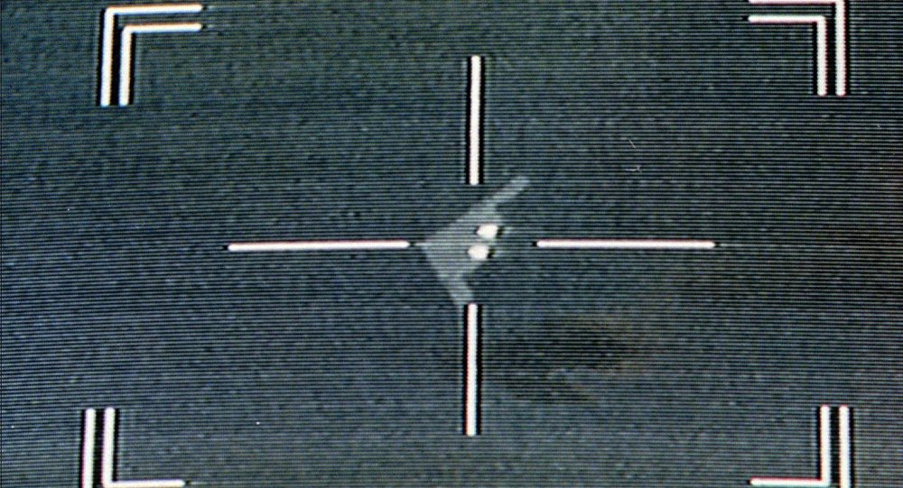 Mísseis antiaéreos são vistos em um bombardeiro Stealth da Força Aérea dos EUA