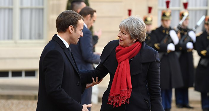 Emmanuel Macron et Theresa May. Photo d'archive