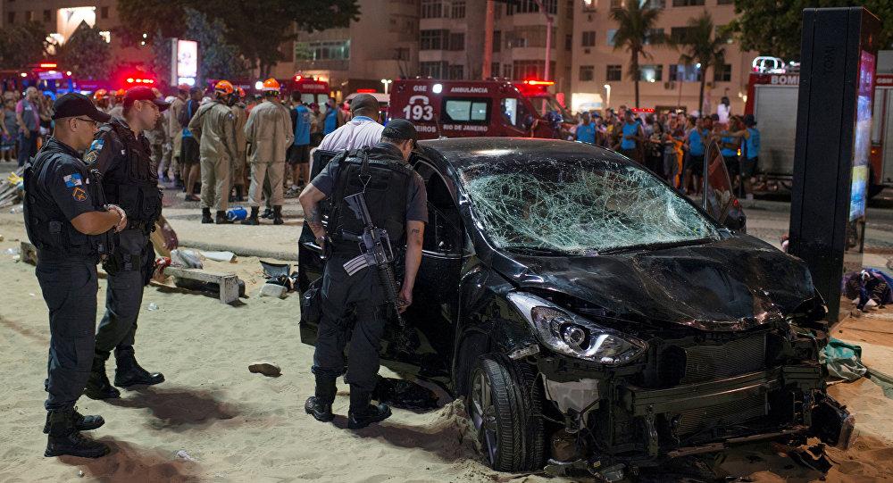 Atropelamento em massa em Copacabana, no Rio de Janeiro, na noite de 18 de janeiro de 2018