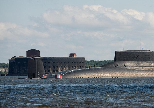 Submarino Dmitriy Donskoy da classe 941 Akula