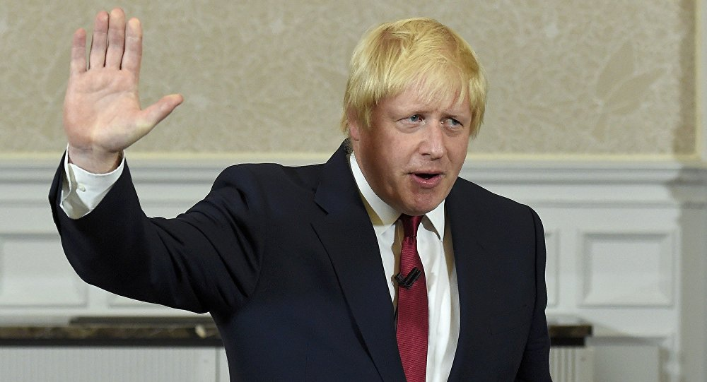 Vote Leave campaign leader, Boris Johnson, waves as he finishes delivering his speech in London, Britain June 30, 2016.