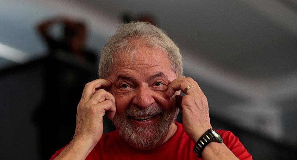Luiz Inácio Lula da Silva é visto no sindicato metalúrgico de São Paulo em 24 de janeiro de 2018