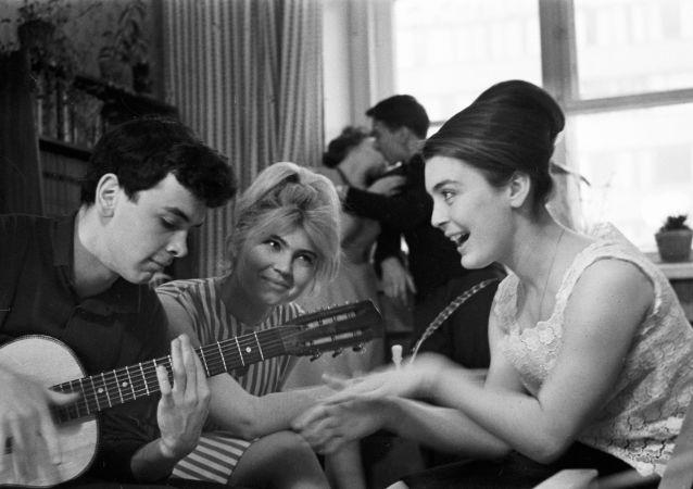 Festa estudantil em 1965
