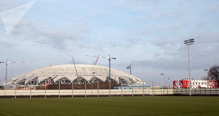 Construção do estádio Arena Samara