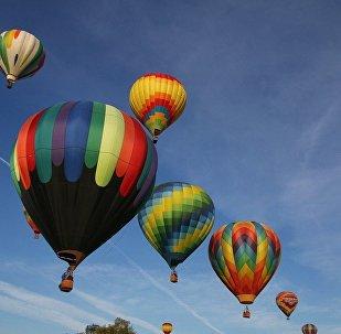 Balões no ar