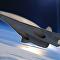 Desenho de um avião supersônico