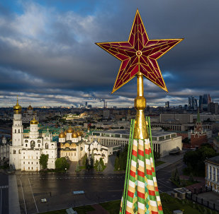 Torre Spasskaya do Kremlin de Moscou