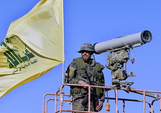 Militante do Hezbollah na Torre de Vigilância
