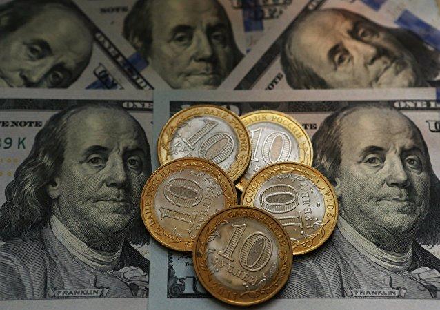Dólar e rublo