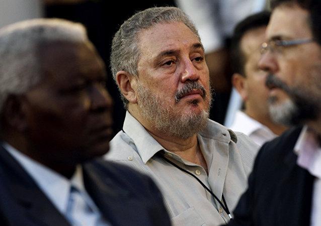 Fidel Ángel Castro Díaz-Balart, filho do ex-líder cubano Fidel Castro, em foto de fevereiro de 2012, em Havana