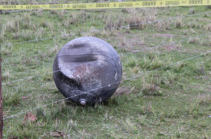 Bola de fogo que caiu no Peru em 27 de janeiro de 2018