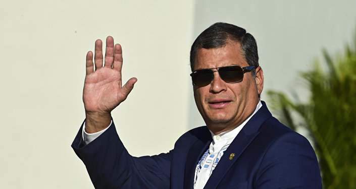 Rafael Correa, ex-presidente do Equador, em foto de 2016.
