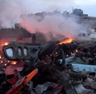 Su-25 abatido na Síria