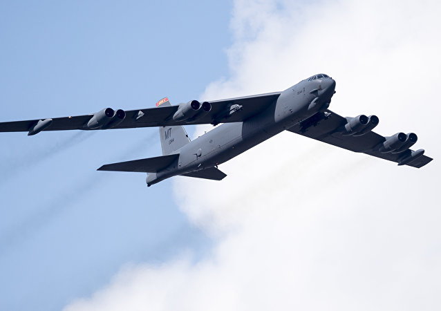 Bombardeiro estratégico B-52 da Força Aérea dos EUA
