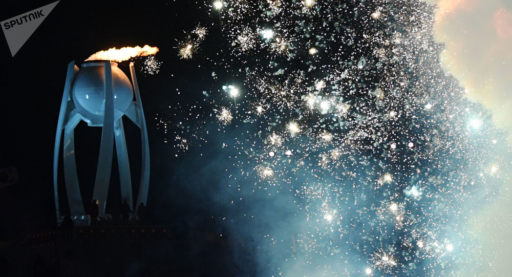 Сerimônia da abertura dos Jogos Olímpicos de Inverno em Pyeongchang