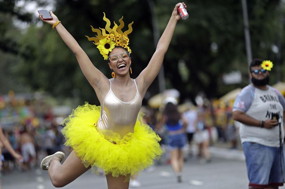 Participante do Carnaval de São Paulo