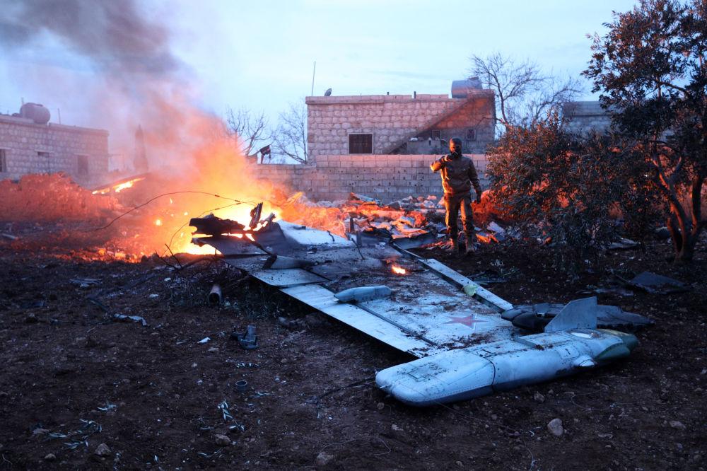 Jato Su-25 russo derrubado na Síria