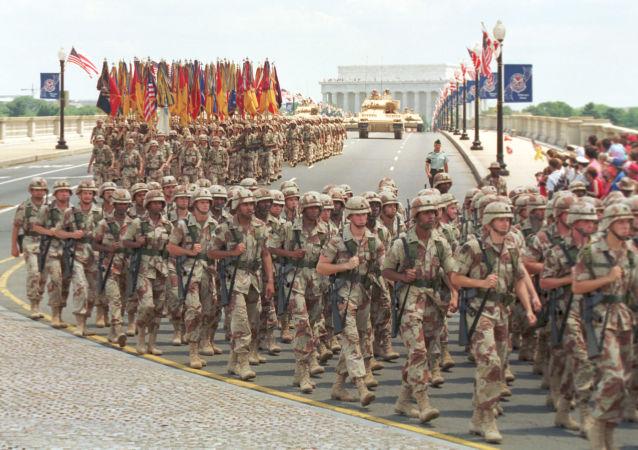 Parada militar dedicada à vitória na Guerra do Golfo, Washington, EUA, 1991
