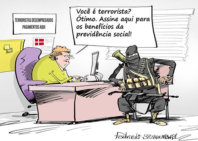Dezenas de cidadãos dinamarqueses receberam ao todo quase 60 mil dólares de subsídios de desemprego enquanto combatiam na Síria