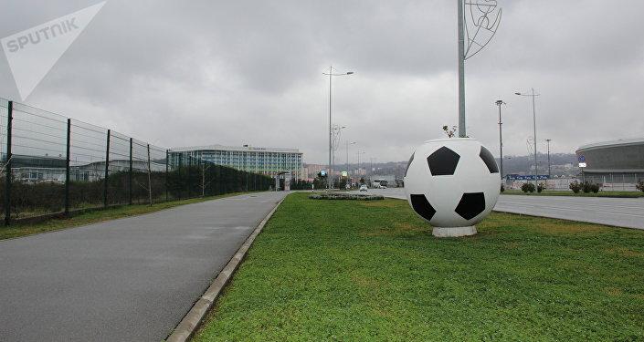 Parque Olímpico em fase de preparação para a Copa do Mundo de 2018