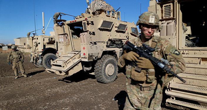 Soldados do exército norte-americano na cidade de Bartela, perto de Mossul, Iraque, 27 de dezembro de 2016
