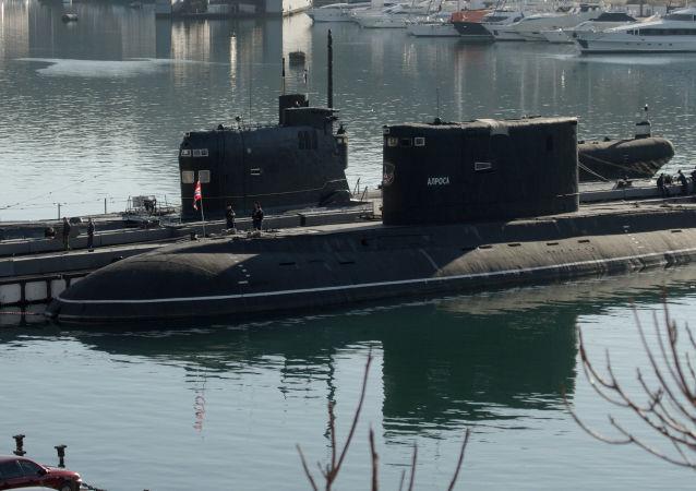 Submarino ucraniano em Sevastopol, foto de arquivo