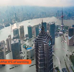 Assim seria a aparência da maior cidade chinesa, Xangai, como resultado do aquecimento global