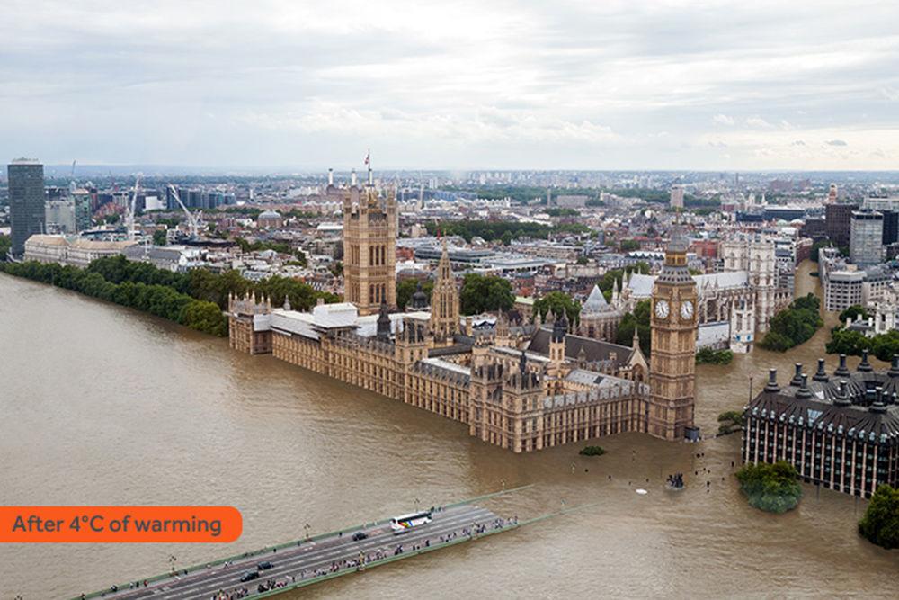 Isso é o que restaria da Ponte de Westminster na capital britânica de Londres