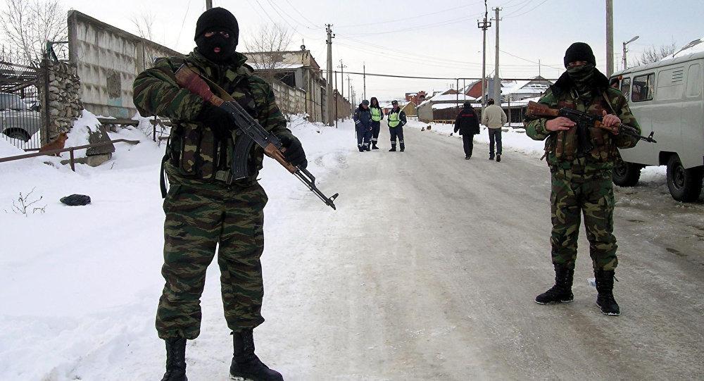 Forças especiais em Daguestão, foto de arquivo