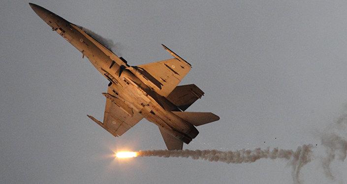 Avião militar McDonnell Douglas F-18 Hornet da Força Aérea da Finlândia