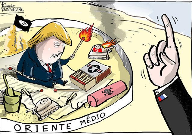 Não, não, não, Trump! Está na hora de parar de brincar na Síria!