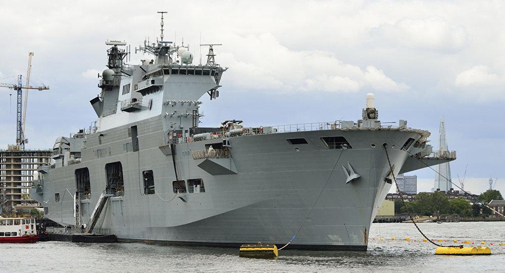 HMS Ocean durante as Olimpíadas de Londres, em 2012.